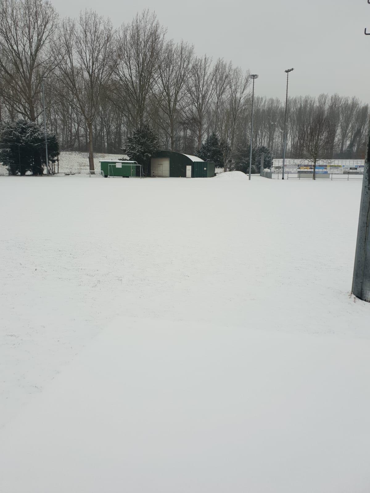 22 januari: Alle trainingen afgelast
