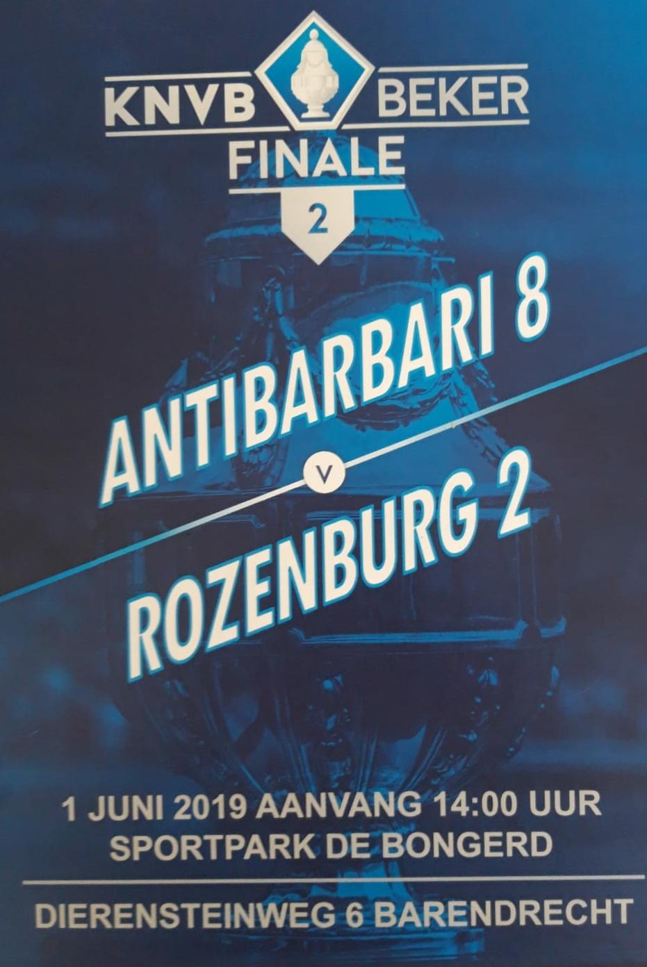 Bekerfinale voor Rozenburg 2