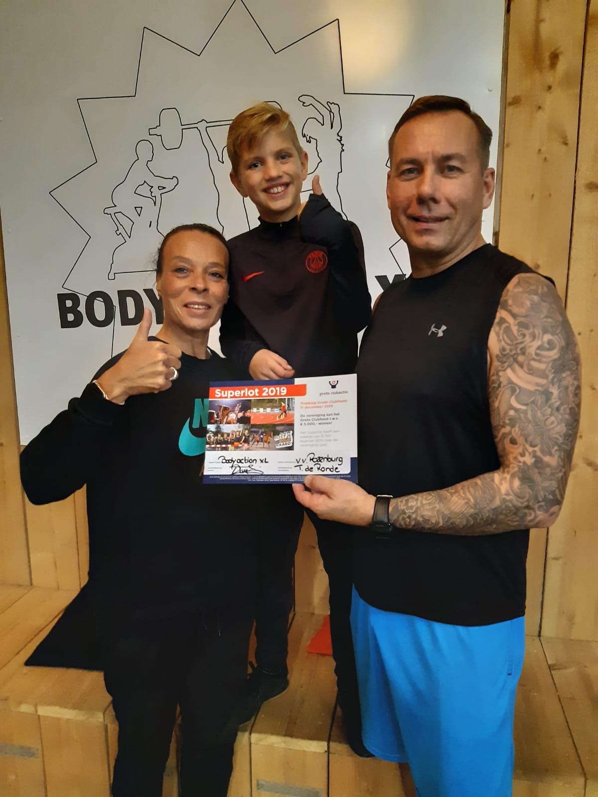 Body Action XL heeft een superlot gekocht!