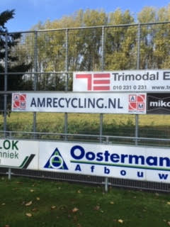 AM Recycling nieuwe bordsponsor
