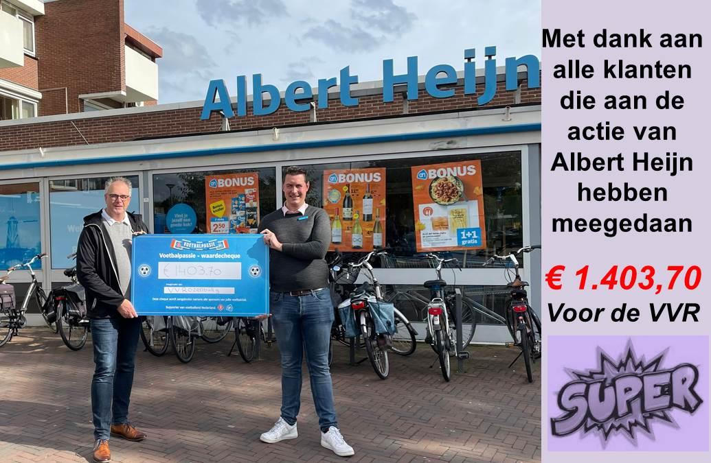 Albert Heijn sponsort v.v. Rozenburg