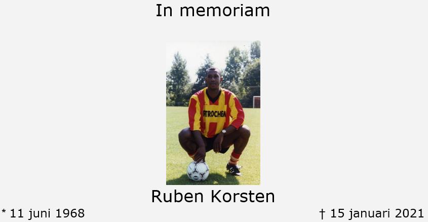 In memoriam, Ruben Korsten