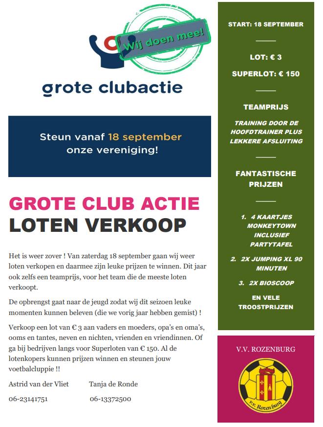 Start Grote Clubactie - 2021
